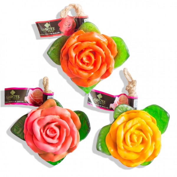 Rosen rot + rosa + orange